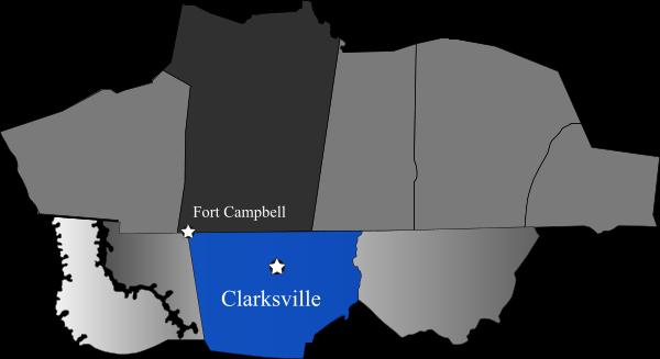 Clarksville map